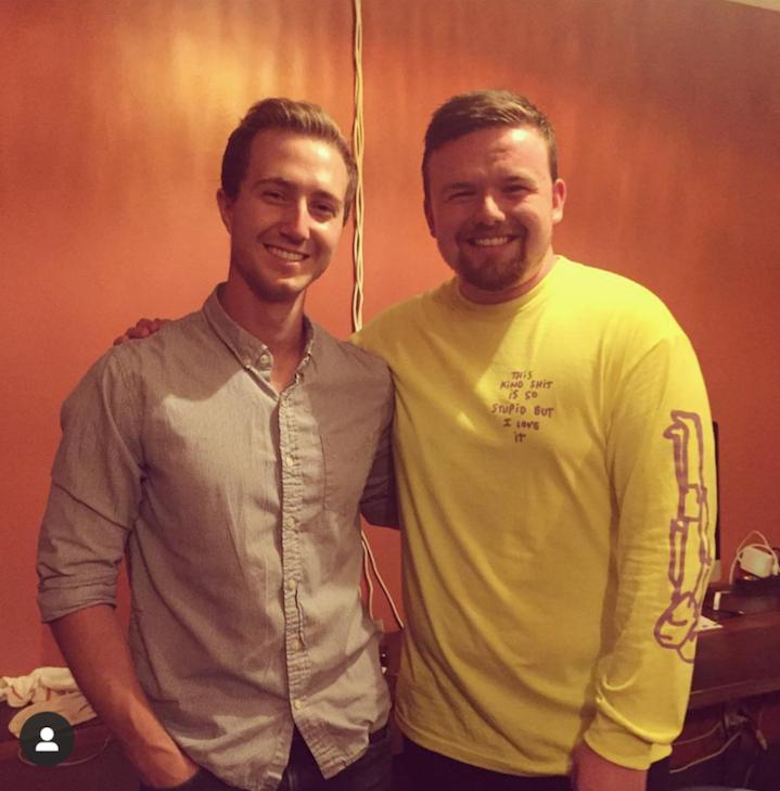 Editor Peter Chrapka with Comedian Aaron McCann