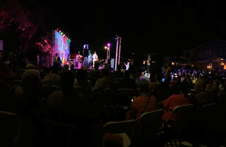 Eric and his group performing at the West Adams Jazz Music Festival in 2019
