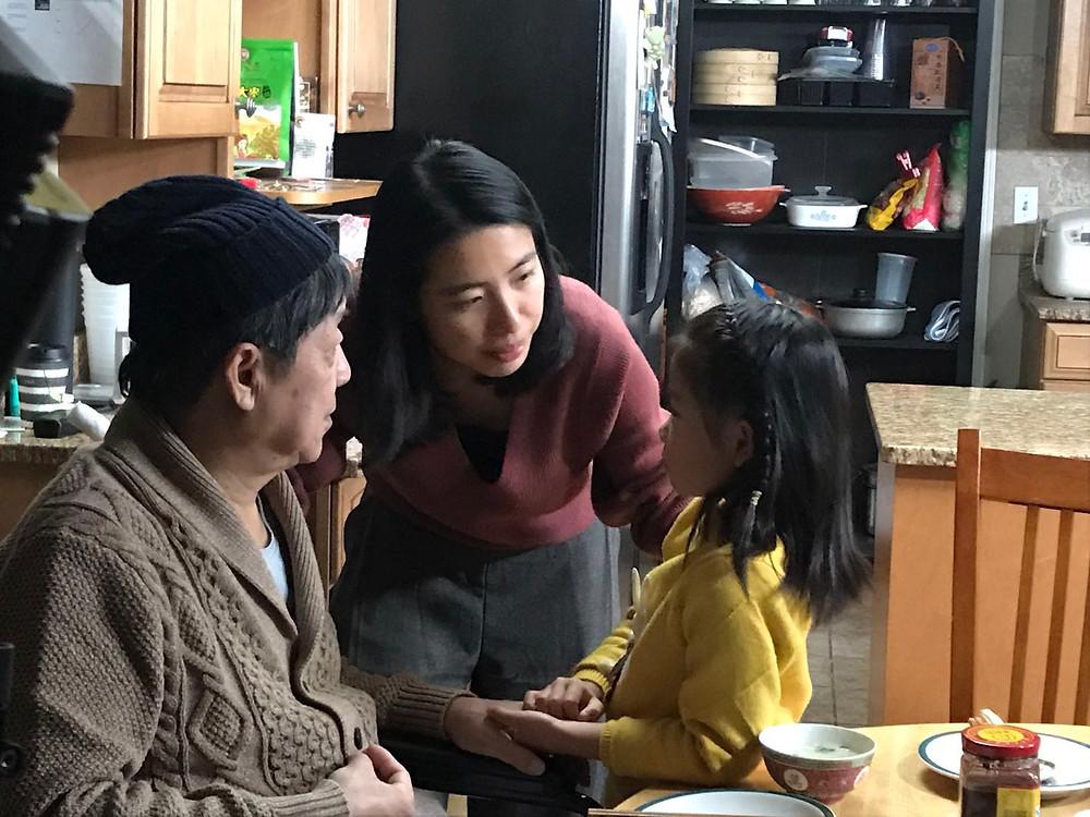 Photo by Hui Hu. From left to right: Di Gao, Chenyun Huang, Hailey H. Zhao