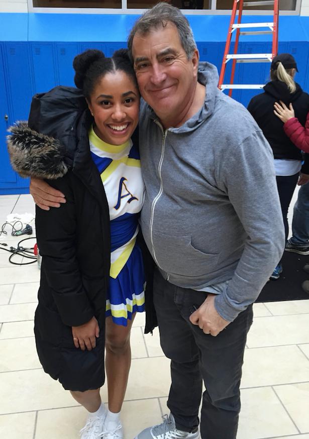 Teya on set with Director Kenny Ortega