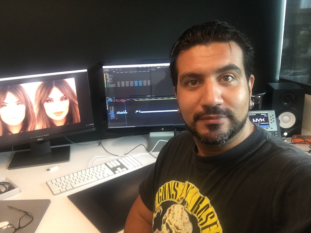 In the edit suite with Amir Heshmati and Beauty Influencer @IluvSarahii