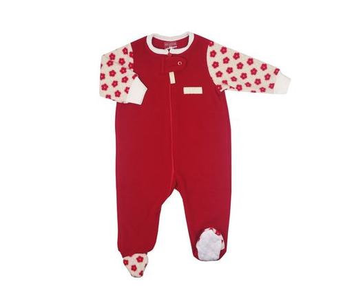 pijama macacão em plush para bebê