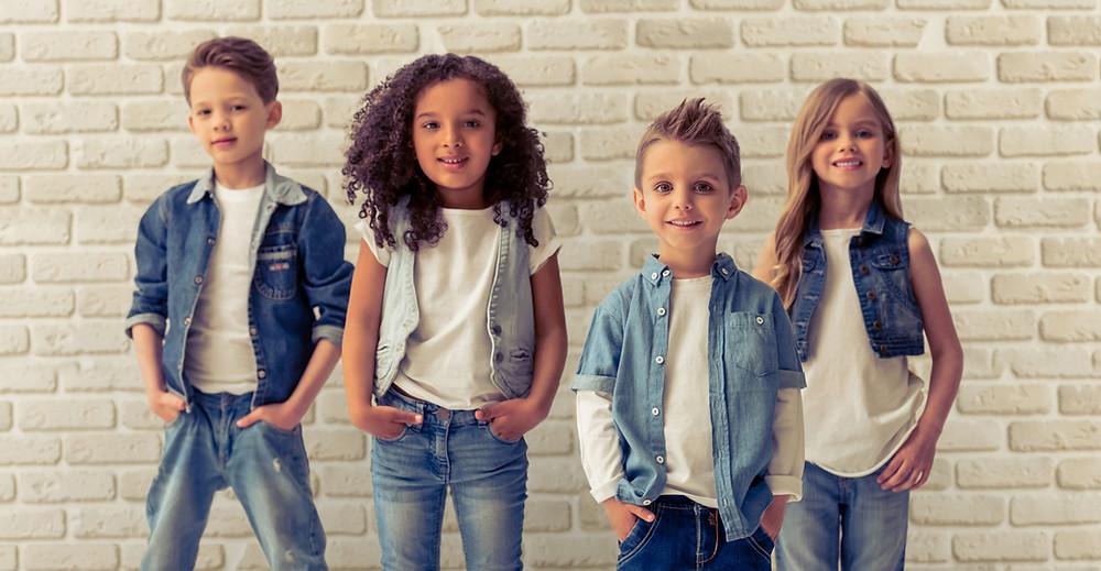jeans para crianças look