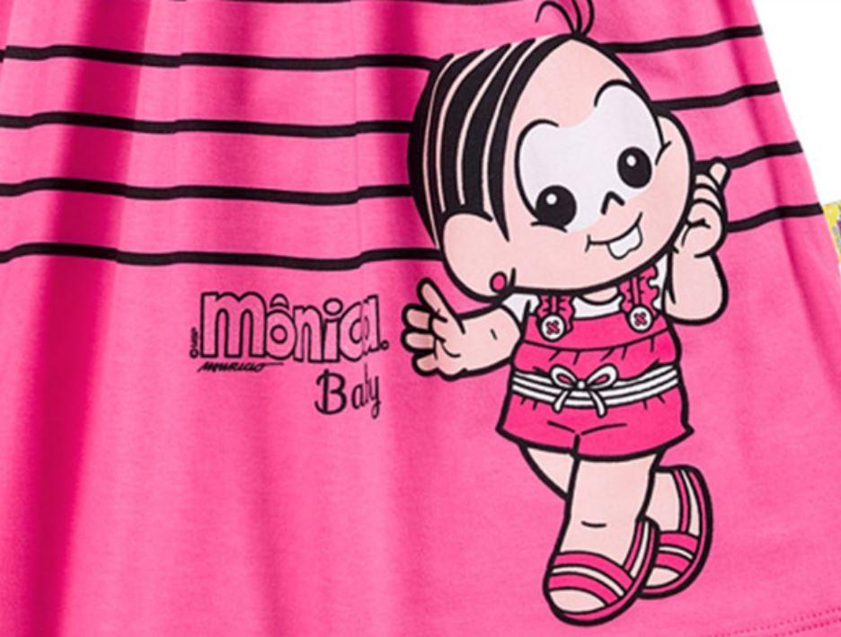vestido infantil da mônica