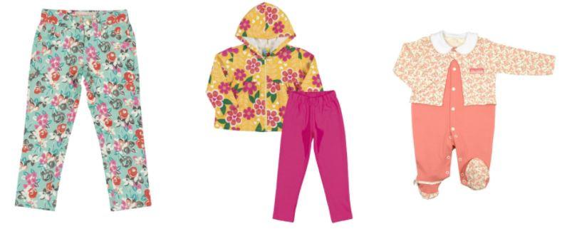roupa de criança com estampa floral