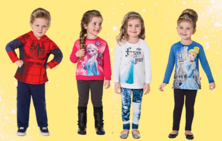 roupa infantil de personagem