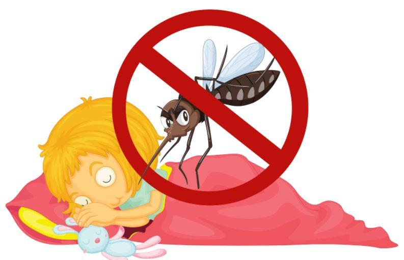 como proteger as crianças dos insetos