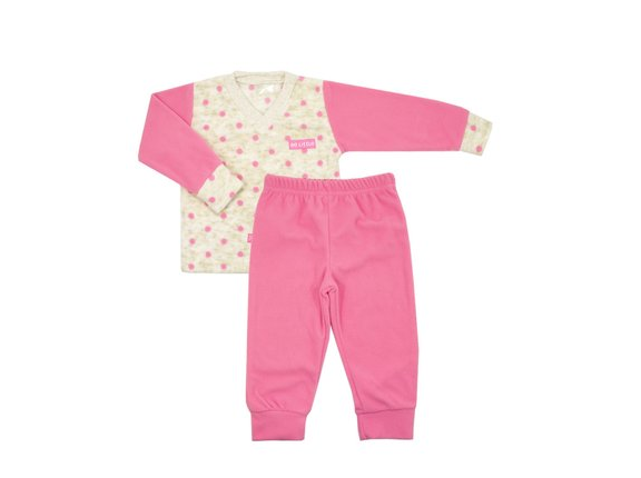 pijama em microsoft para bebê
