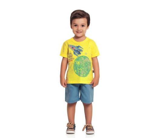 conjunto camiseta e bermuda infantil menino