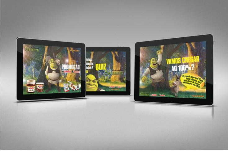 Apresentação digital Promoção Shrek - Nutella e Kinder