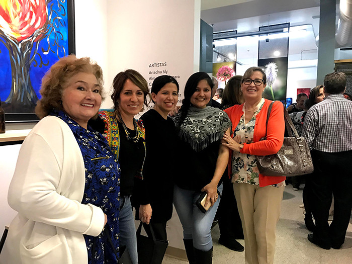 Bolivian friends visiting the exhibition