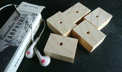 Natural Pine Wood Blocks x 5