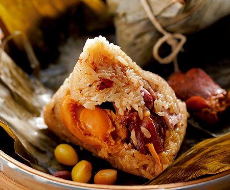 2. 鲍鱼火腿粿蒸粽 Abalone & Chinese Ham Rice Dumpling (1PC)