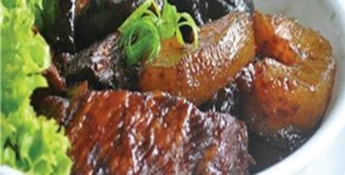 Stewed Sea Cucumber Iberico Pork 海参焖黑毛猪肉