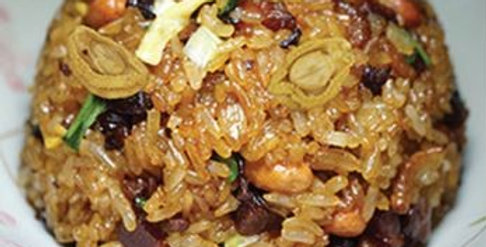 Abalone Cured Meat Glutinous Rice 生炒腊味鲍鱼糯米饭