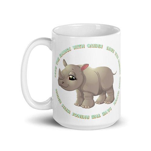 Save the Rhinos With Quinn Mug