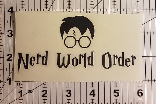 N.W.O Wizards Die Cut Vinyl Sticker