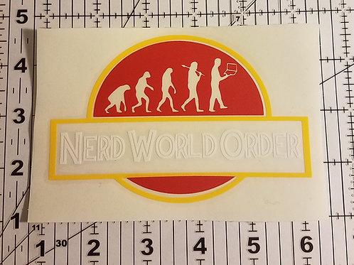Jurassic N.W.O Die Cut Vinyl Sticker