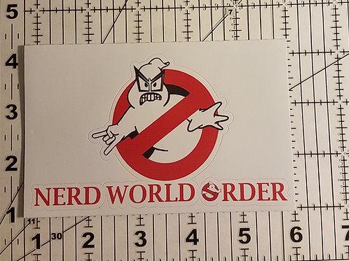 Nerd Busters Die Cut Vinyl Sticker
