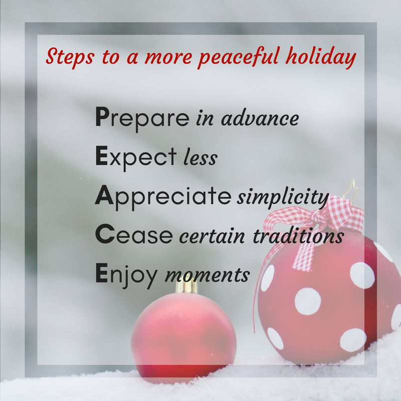 Steps to a peaceful holiday