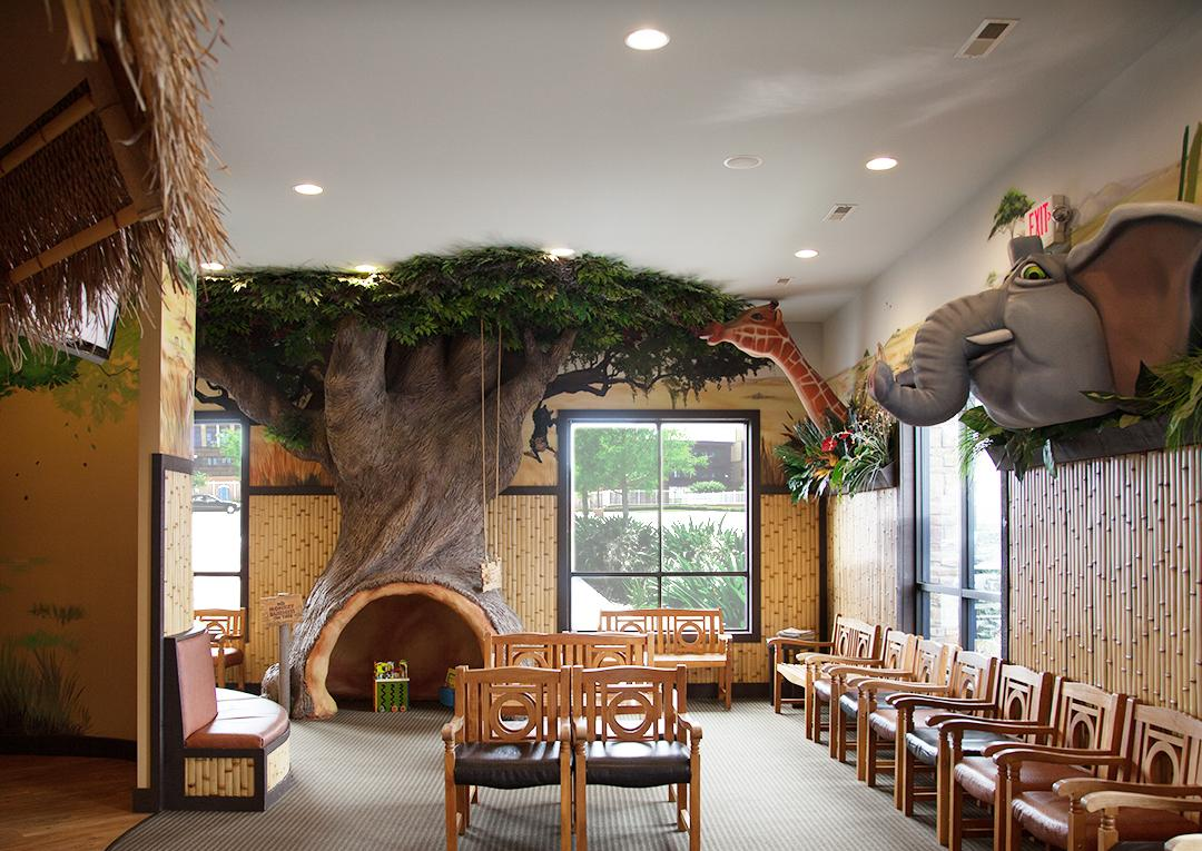 finished tree in lobby