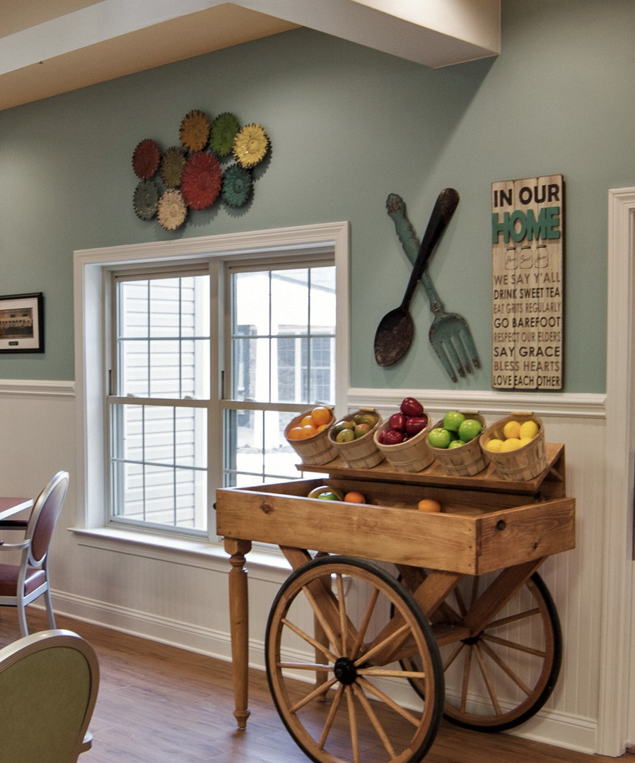 Food cart for Memory Care dining room