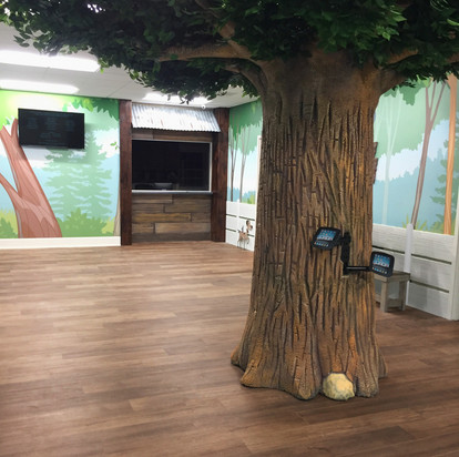 concrete tree with ipad stations Albany