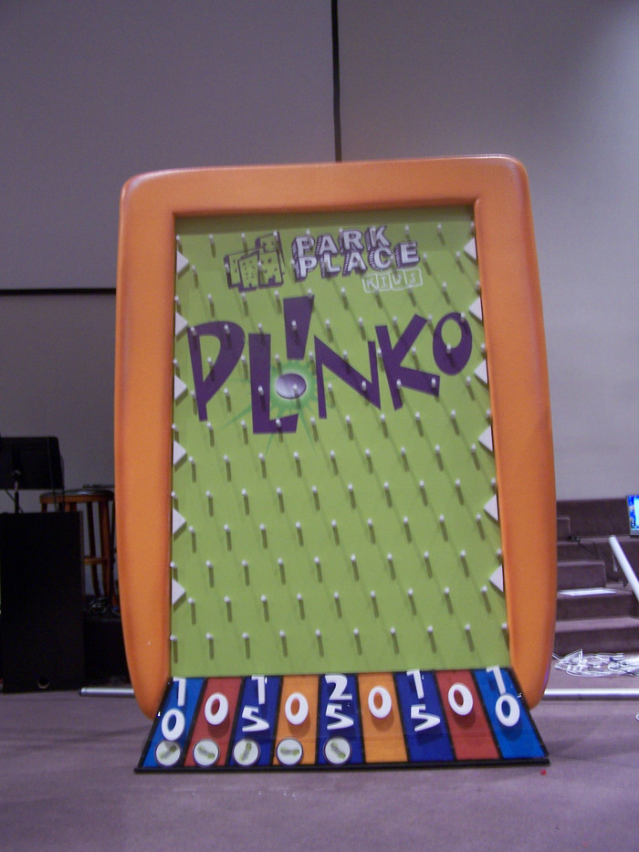 Life-Sized Plinko game