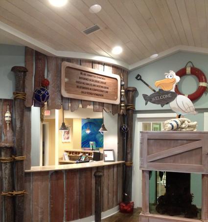 nautical themed lobby