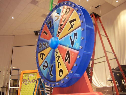 Game Show Stage Set for Vacation Bible S