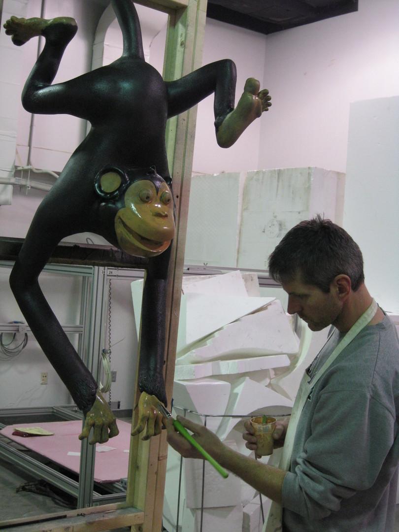 Monkey mirror in progress