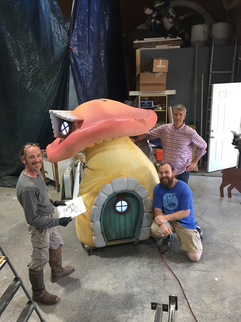 a mushroom and its artists