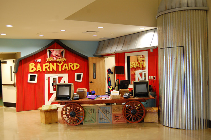 Barnyard stage set