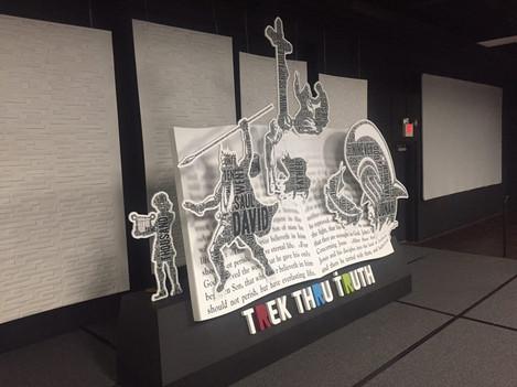 Large Bible pop-up display