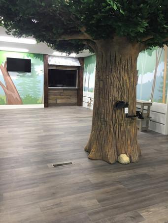 ipad stations on lobby tree