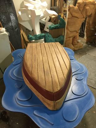 capsized rowboat in progress