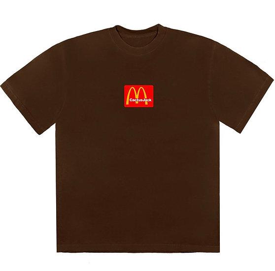 Travis Scott X McDonal's Action Sesame III T-Shirt Brown