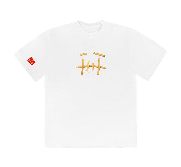 Travis Scott X McDonal's Fry T-Shirt White
