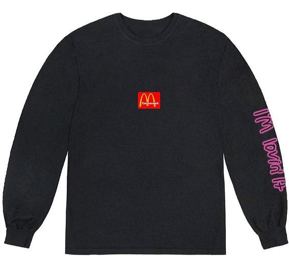 Travis Scott X McDonal's Action Figure Space L/S T-Shirt Black