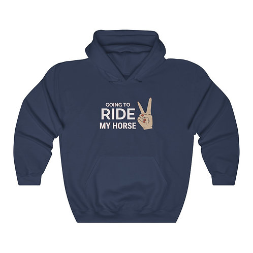 Peace! Going to Ride Hoodie