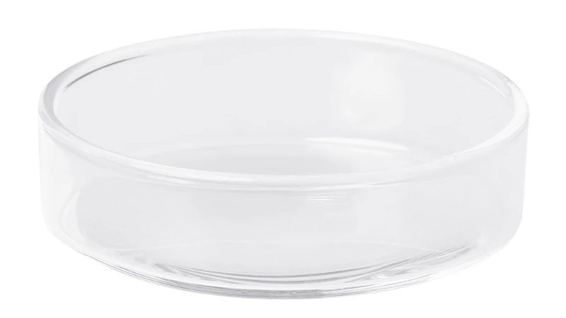 Clear Glass Shrimp Food Round Dishes Feeding Bowl