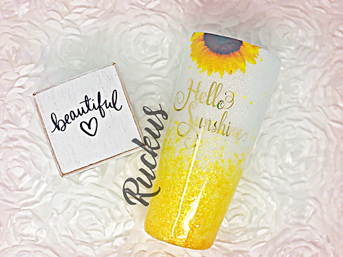 Hello Sunshine Sunflower tumbler