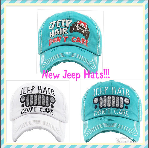 Jeep Hair Don't Care Hats