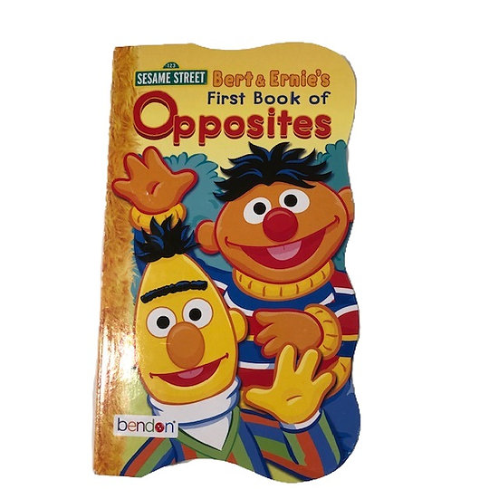 Bert & Ernie's First Book of Opposites Adapted Book