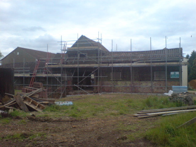 Barn pre-works showing rear aspect