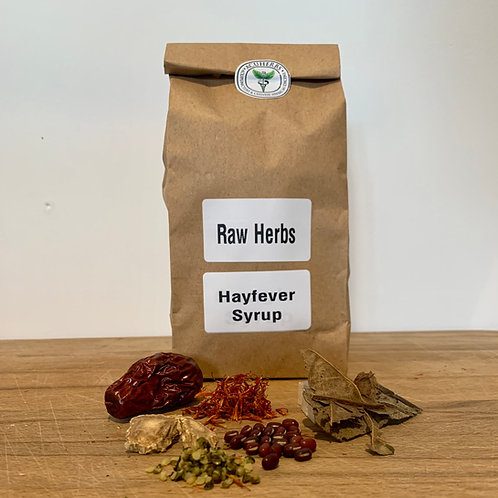 Hayfever Syrup Raw Herbs