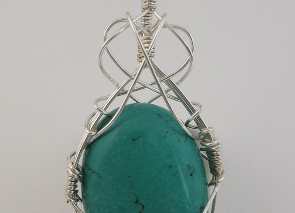 Turquoise wrapped in Silver - 2