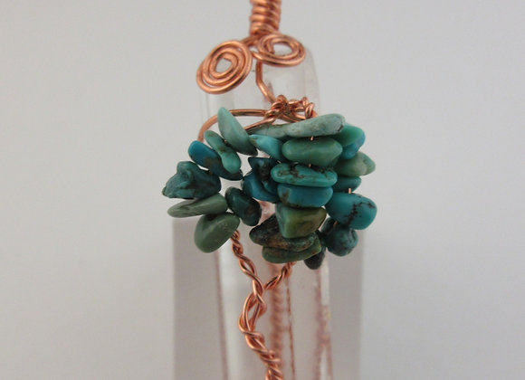 Tree - Turquoise wrapped in Copper - 1