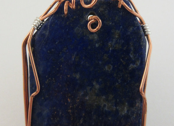 Lapis Lazuli wrapped in Copper - 5