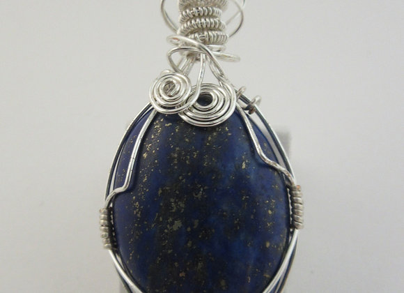 Lapis Lazuli wrapped in Silver - 1